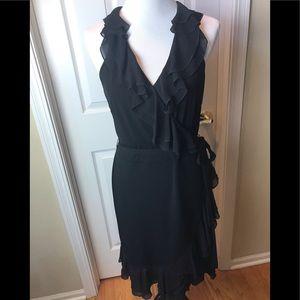 White House Black Market | Ruffled Dress, Black 12